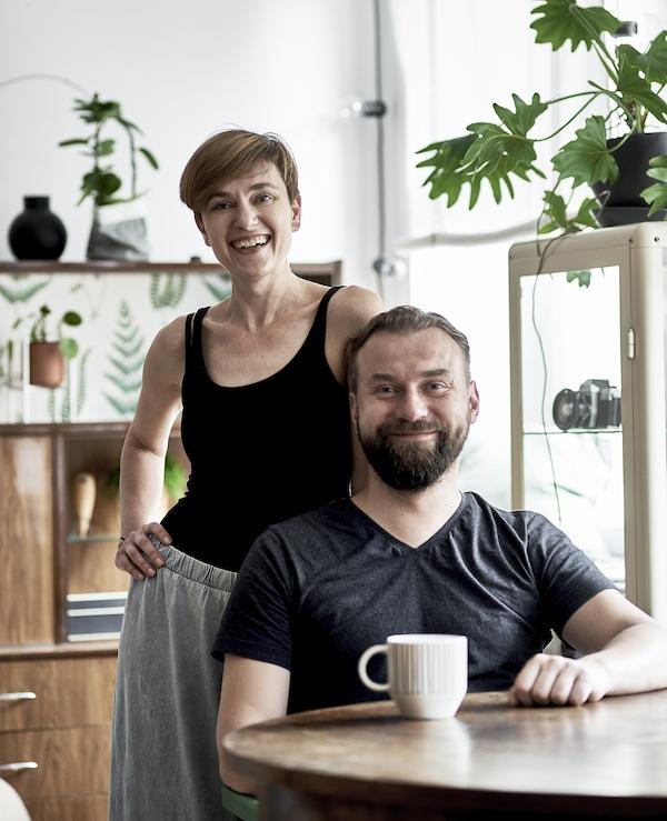 Dagmara和丈夫Krzysztof的照片。