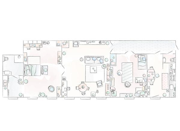Dagmara家的平面图。