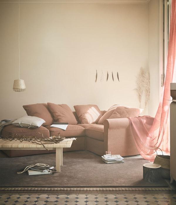 GRÖNLID 格罗恩里德是一款组合式沙发,几乎可以打造成任何尺寸和形状,有多种颜色的沙发套可供选择。