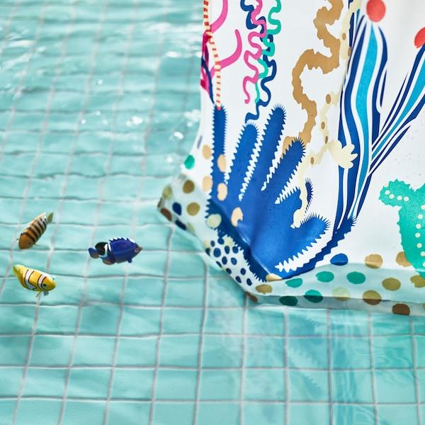 和宜家所有的浴帘一样,LASJÖN 拉斯逊 浴帘也具备防水特性,不含有害化学物质。