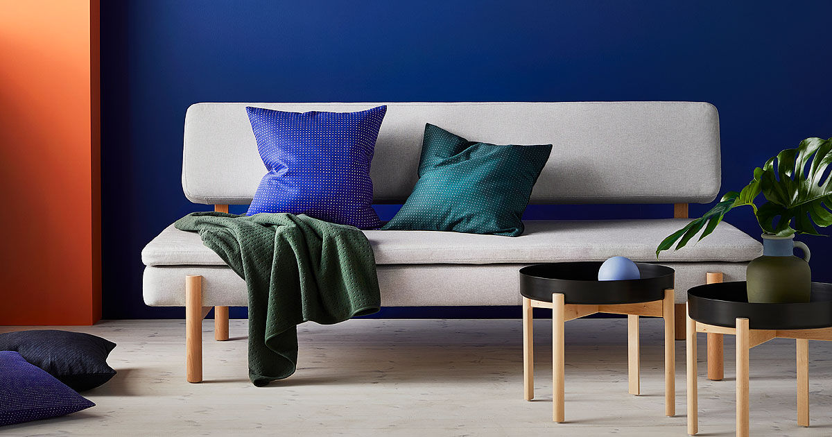 IKEA and HAY present modern coffee tables, sofas, cushions, textiles, chairs, accessories and more timeless furniture pieces in their latest collaboration.