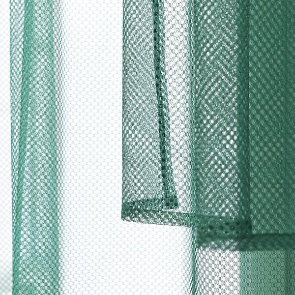 绿色网眼布料。