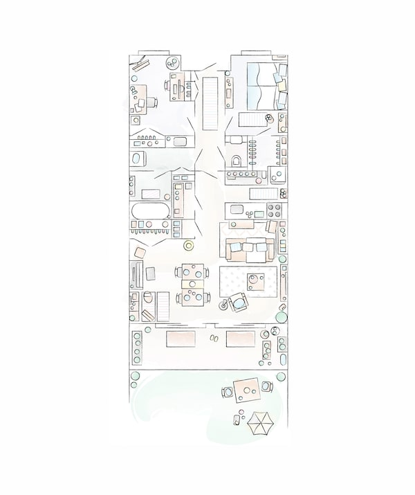 Mieko家的平面图。