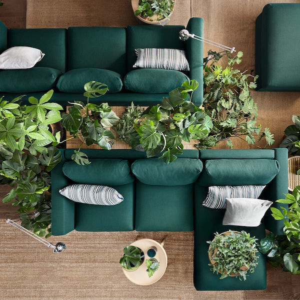 Not only can you change the cover on IKEA VIMLE sofa, but also re-arrange the modules to create a new layout. By re-inventing the sofa you already have, we can work together to reduce waste.