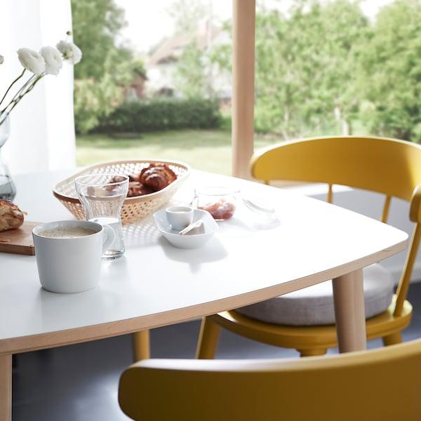 OMTÄNKSAM 沃姆安克萨姆 桌子防刮擦且易于清洁,适合用作早餐桌,可搭配两把 OMTÄNKSAM 沃姆安克萨姆 椅子。