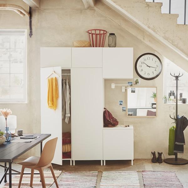 PLATSA 普拉萨 储物件是一款非常灵活的储物系列,只需要挑选一个衣柜,添加一些模块,你可以用它打造出无限种可能的储物方案。