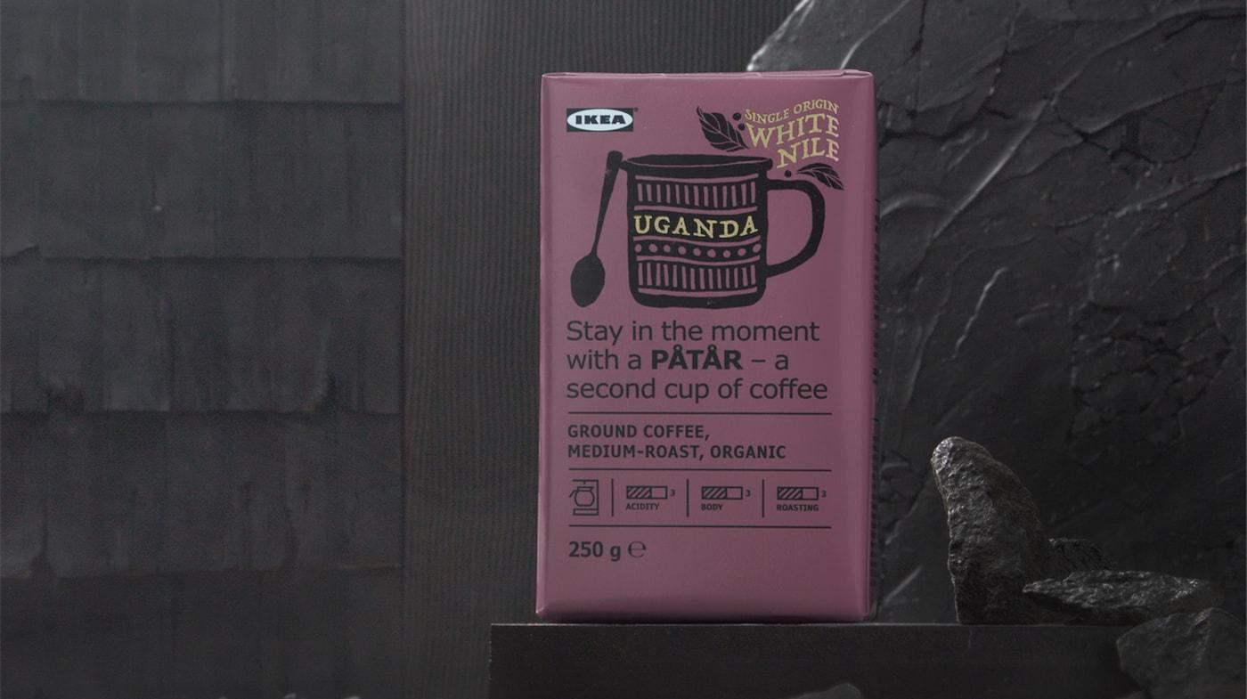 特别版 PÅTÅR 巴塔尔 咖啡由来自乌干达白尼罗河地区的100%阿拉比卡咖啡豆冲泡而成,产地单一,品质上乘。这是一款清新果香味中度烘焙咖啡,带有些许香草和焦糖的香气。