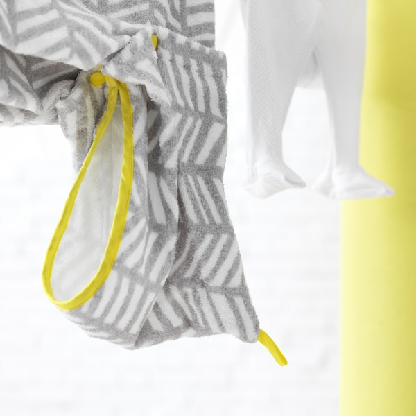 The IKEA KLÄMMIG soft cotton towelwith a hood is perfect for wrapping your baby after bathtime.