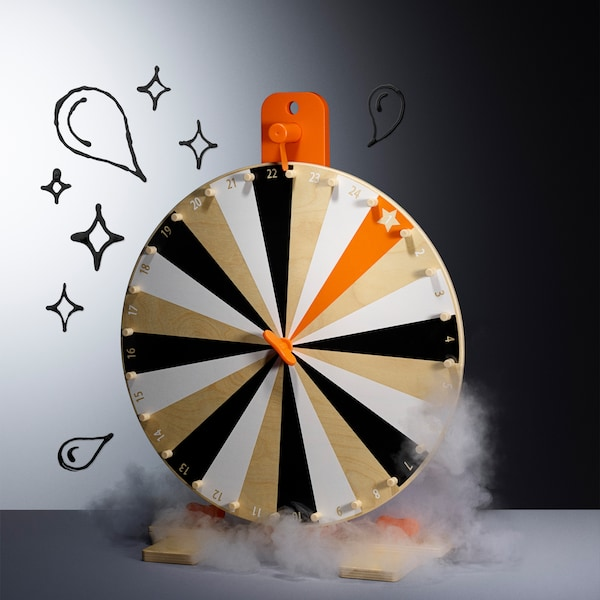 This IKEA LUSTIGT wheel of fortune has many possibilities, allowing you to make up your own games and prizes. What's your win?