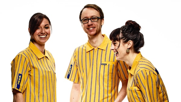Three IKEA workers