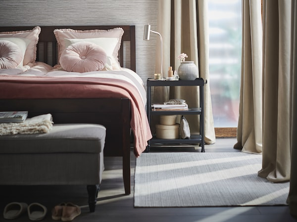 Tips on how to freshen up your bedroom with textiles.