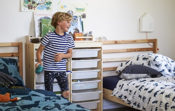 A Playful Kids Bedroom Makeover For Two Siblings Ikea