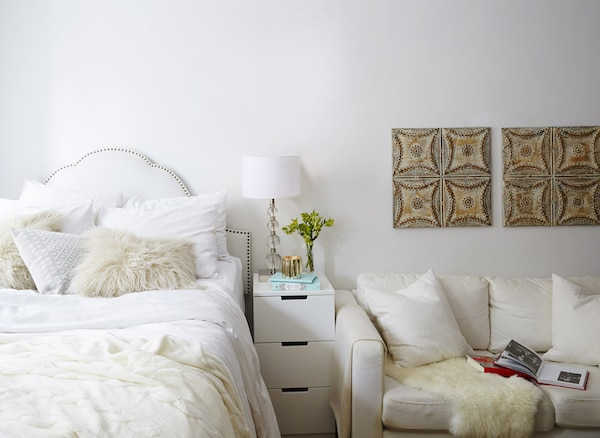 White helps open up a small-space home.