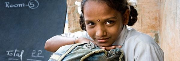 学校里的印度女孩
