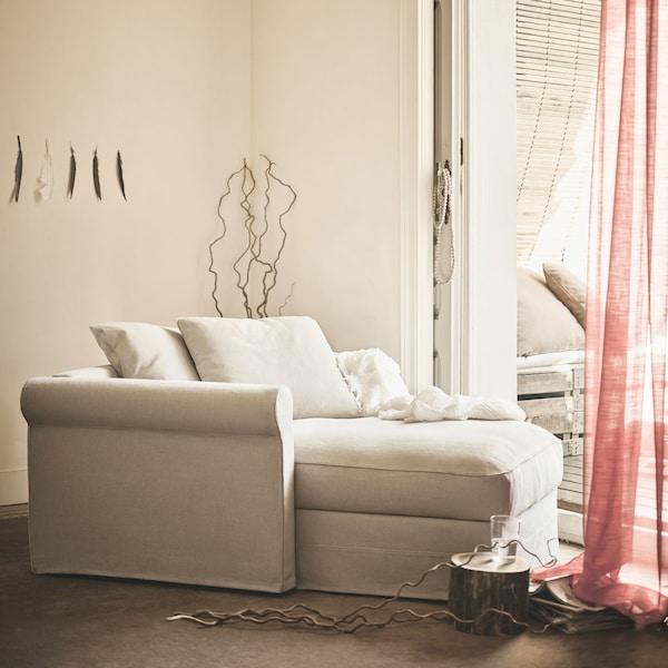 寻找长久的舒适体验?GRÖNLID 格罗恩里德 贵妃椅就可以做到这一点,你也可以随心调整大大的后背支撑靠垫。