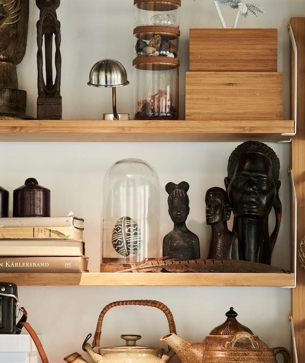 宜家 HÄRLIGA 哈利格 玻璃罩可以使珍贵的收藏品免于沾染灰尘和污垢,同时增添装饰效果。