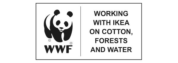 宜家与WWF携手,在棉花、森林和水资源方面通力协作。