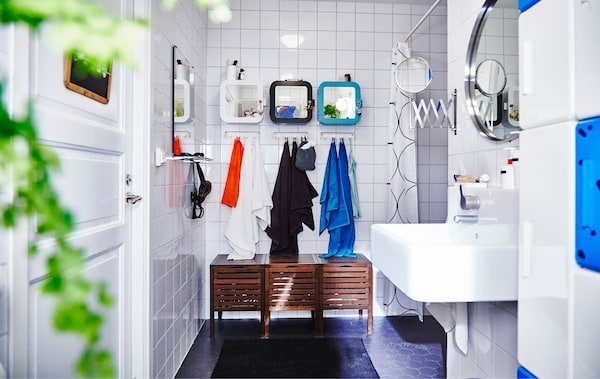 用宜家储物件和配件产品打造的浴室