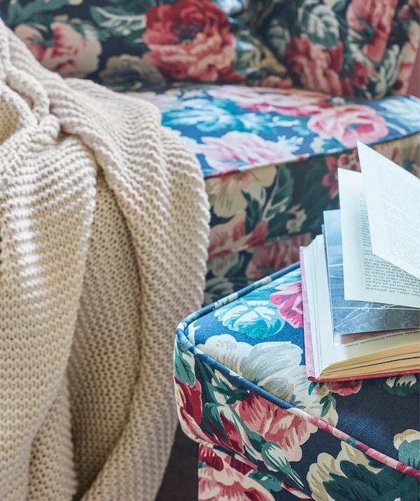 增添色调素净的柔美细节,如一张简约的宜家 INGABRITTA 因阿布里塔 休闲毯。