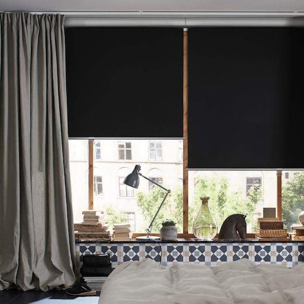 遮光百叶帘和窗帘伴你好眠的小贴士。