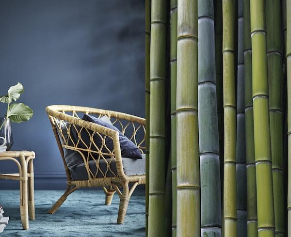 竹子坚固耐用,而且抗湿。我们使用的竹子中,有超过90%都生长于中国,到2016年,这些竹子几乎都获得了FSC认证。