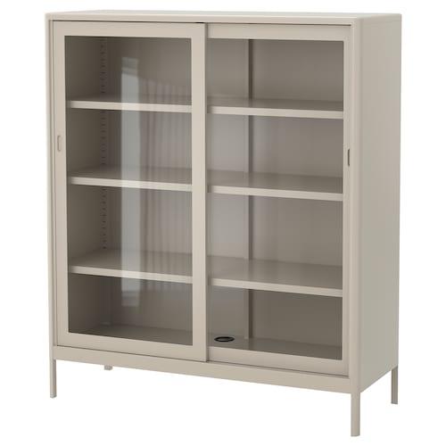 伊朵森 柜带玻璃滑门, 米黄色, 120x140 厘米
