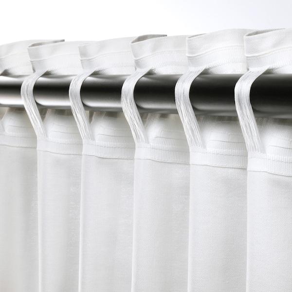 安娜路易莎 窗帘,2幅, 白色, 145x300 厘米