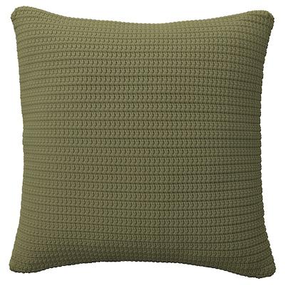 SÖTHOLMEN Cushion cover, in/outdoor, beige-green, 50x50 cm