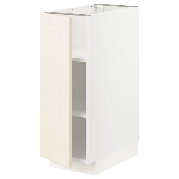 METOD Base cabinet with shelves, white/Bodbyn off-white, 30x60x80 cm