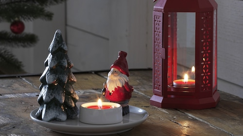 Winter candles & candles holders