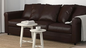 Coated fabric three-seat sofas