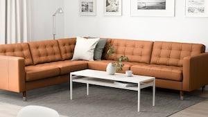 Leather/coated fabric corner sofas