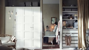 PAX doors with hinges